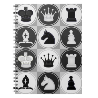 Chess Pattern Spiral Notebook