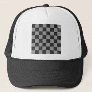 Chess pattern trucker hat