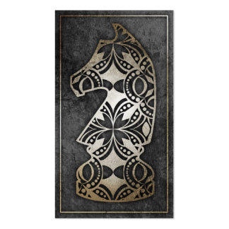 Chess Piece - Dark Knight Business Card Template