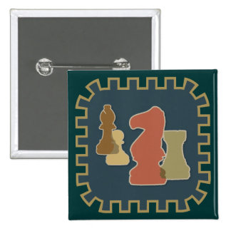 Chess Pieces Blue Button