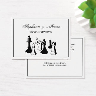 Chess Pieces Vintage Art #2 Business Card