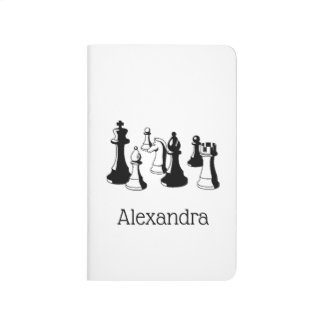 Chess Pieces Vintage Art #2 Journal