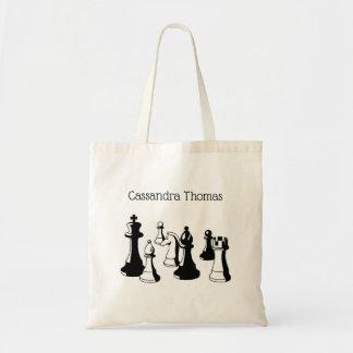 Chess Pieces Vintage Art #2 Tote Bag
