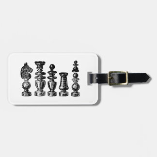 Chess Pieces Vintage Art Luggage Tag