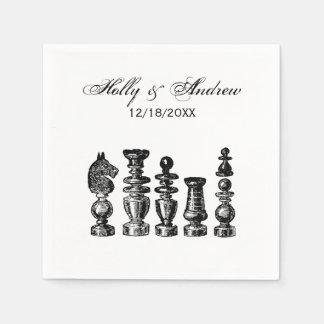 Chess Pieces Vintage Art Paper Serviettes