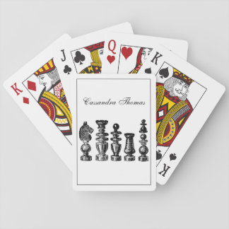 Chess Pieces Vintage Art Playing Cards