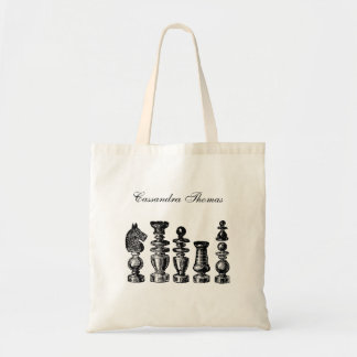 Chess Pieces Vintage Art Tote Bag