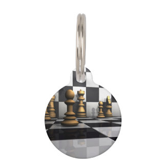 Chess Play King Pet Tag