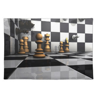 Chess Play King Place Mat