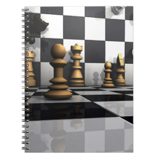Chess Play King Spiral Notebook