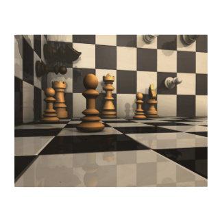 Chess Play King Wood Wall Art