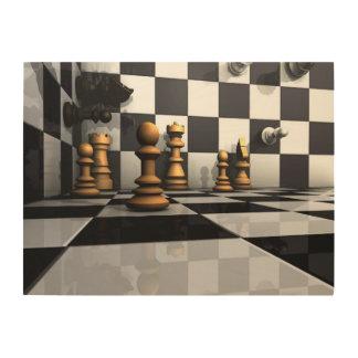 Chess Play King Wood Wall Decor