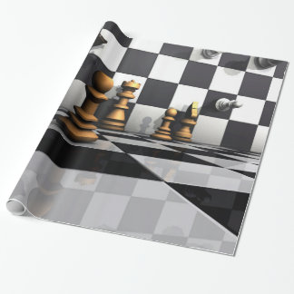 Chess Play King Wrapping Paper
