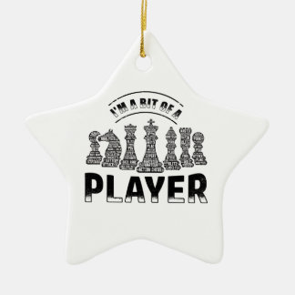 Chess Player Ceramic Ornament