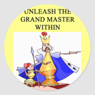 CHESS player grand master Classic Round Sticker
