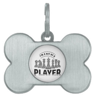 Chess Player Pet Name Tag