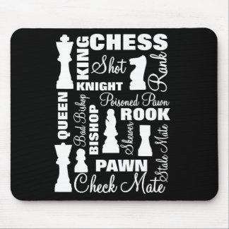 Chess Players Typography Design Mouse Pad