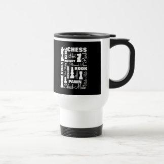 Chess Players Typography Design Travel Mug