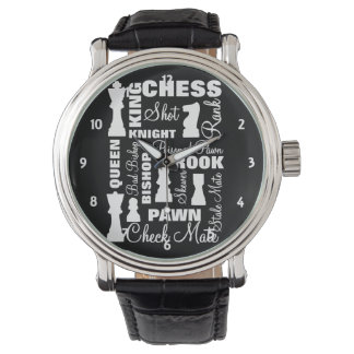 Chess Players Typography Design Watch