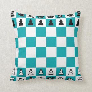 """Chess Polyester Throw Pillow, Throw  16"""" x 16"""" Cushion"""
