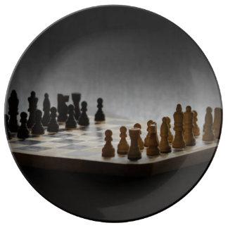 Chess Porcelain Plate