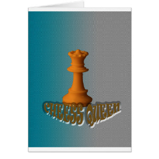 Chess queen greeting cards
