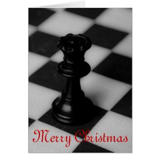 Chess queen christmas card
