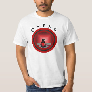 Chess Red Knight Chessboard Geeky Games T-Shirt