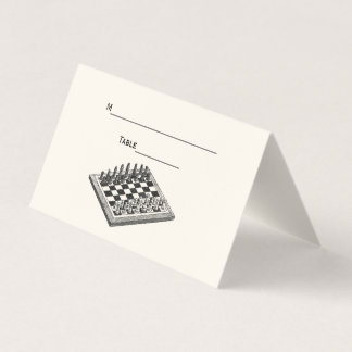 Chess Set Chessboard Escort Card Place Card Ivory