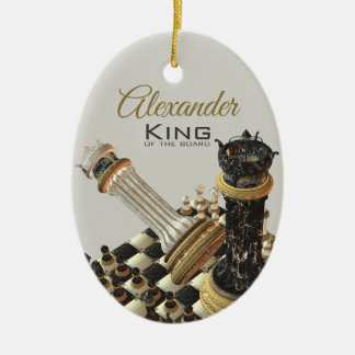 Chess Set King Of The Board Ceramic Ornament