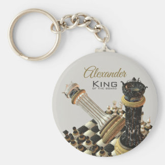 Chess Set King Of The Board Key Ring