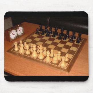 Chess set mouse pad