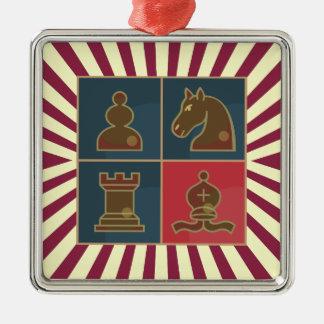 Chess Squares Square Ornament