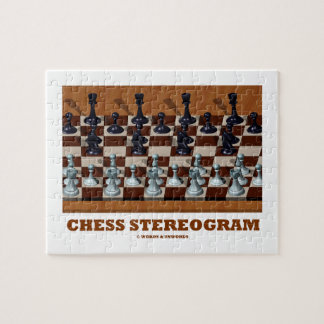 Chess Stereogram (Chess Pieces 3-D) Puzzles