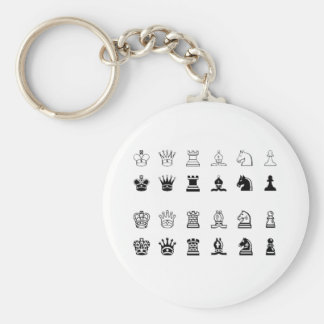Chess symbols key ring