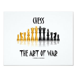 Chess The Art Of War (Matisse Font) 11 Cm X 14 Cm Invitation Card