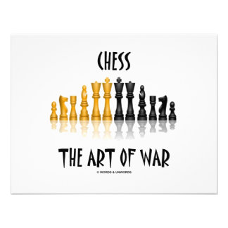 Chess The Art Of War Matisse Font Invitation