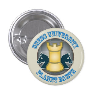 Chess University on Planet Earth Emblem 3 Cm Round Badge