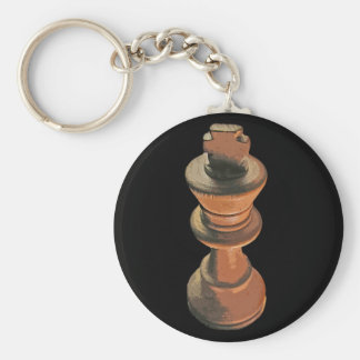 Chess, White King, Stylised (2) Key Ring