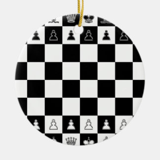 Chessboard chess board ceramic ornament