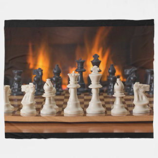 Chessboard Fireside Fleece Blanket
