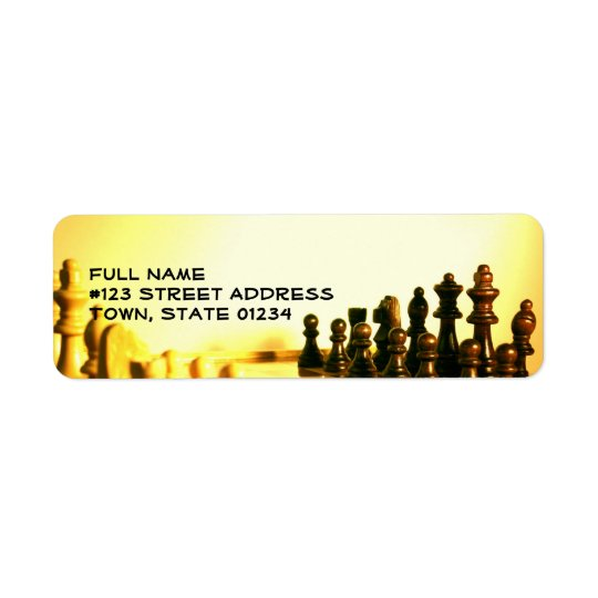Chessboard Mailing Label