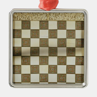 Chessboard Metal Ornament