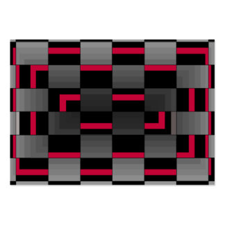 Chessboard Neon Red City Urban Design Pack Of Chubby Business Cards
