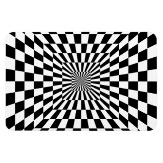 Chessboard optical illusion magnet