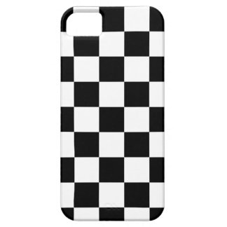 chessboard pattern black and white barely there iPhone 5 case