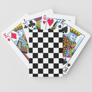 chessboard pattern black and white bicycle playing cards