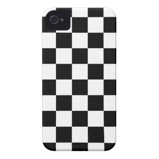 chessboard pattern black and white Case-Mate iPhone 4 case
