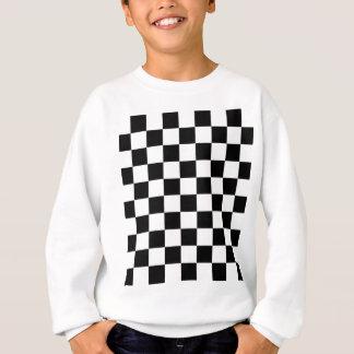 chessboard pattern black and white sweatshirt