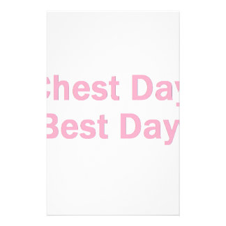 chest day pink customized stationery